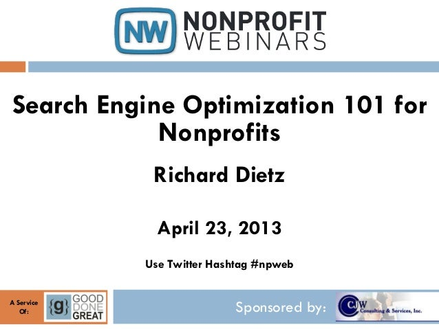 Search Engine Optimization 101 for Nonprofits