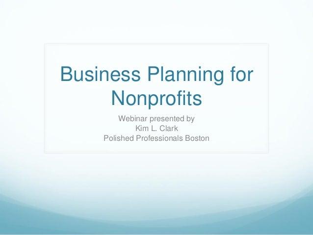 Business plan for non profits