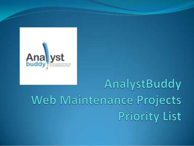 130428 web maintenance projects   focus list sent to saurya