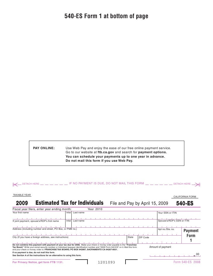 540-ES Form 1 at bottom of page                           PAy ONlINE:                        Use Web Pay and enjoy the eas...