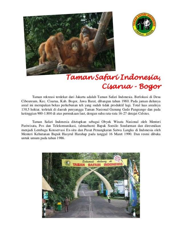 Panduan Tour Taman Safari Indonesia