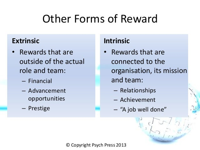 extrinsic and intrinsic motivation of employees in organizations