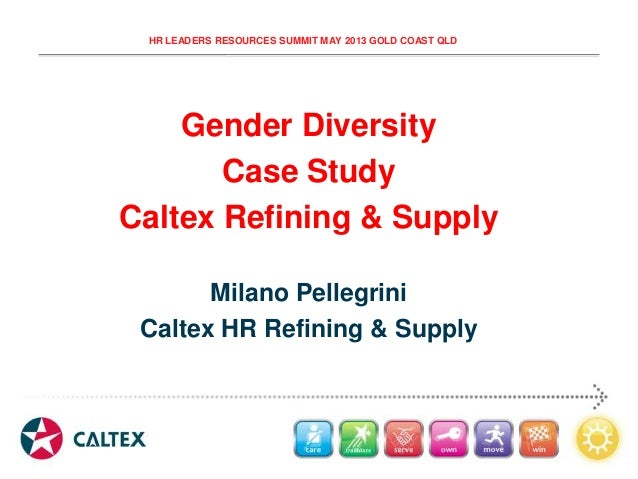 HR LEADERS RESOURCES SUMMIT MAY 2013 GOLD COAST QLD Gender Diversity Case Study Caltex Refining & Supply Milano Pellegrini...