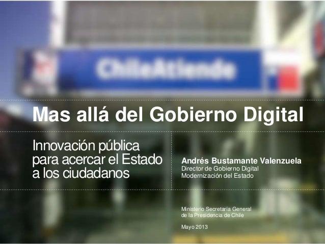 Más allá del Gobierno Digital