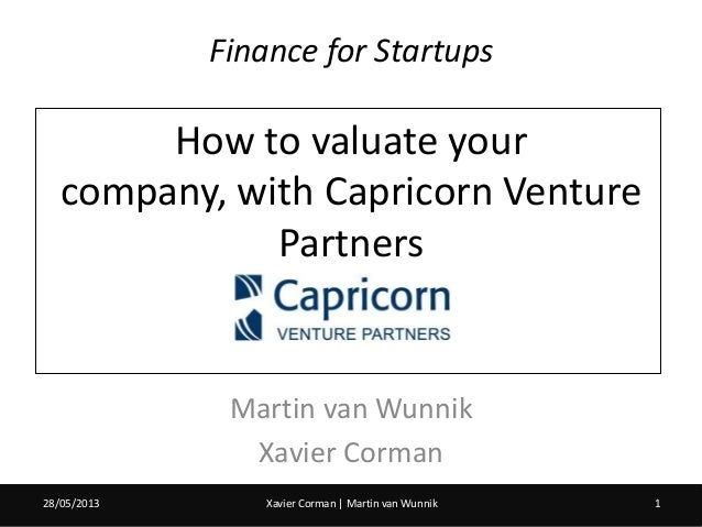 How to valuate your company, with Capricorn Venture Partners