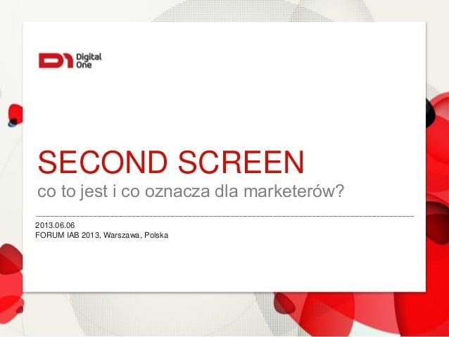 2nd screen - co to jest i co oznacza dla marketerów?