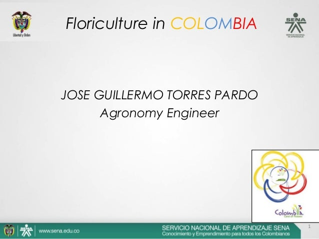 1 JOSE GUILLERMO TORRES PARDO Agronomy Engineer Floriculture in COLOMBIA