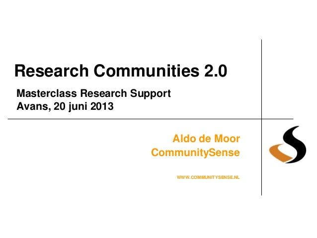Research communities 2.0