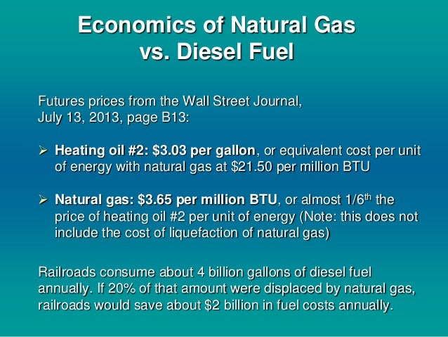 Natural Gas Vs Diesel Btu