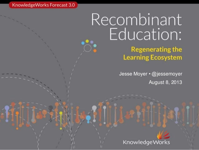 Recombinant Education: Regenerating the Learning Ecosystem