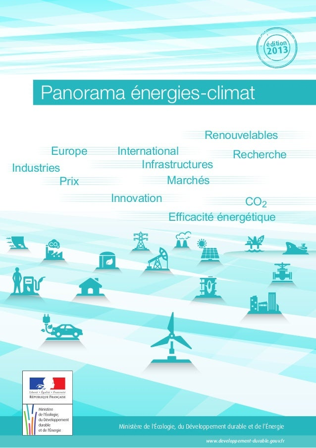 édition 2013 Panorama énergies-climat MarchésPrix Infrastructures International Innovation Efficacité énergétique Recherch...