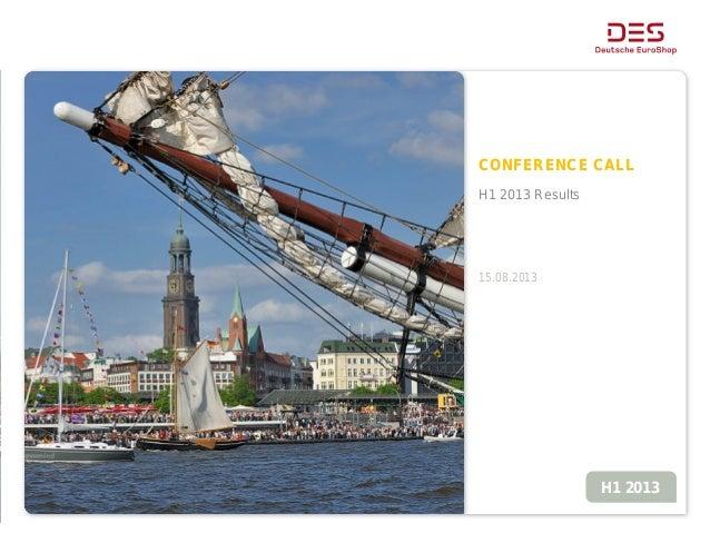Deutsche EuroShop - Conference Call Presentation - Interim Report Q1 2013