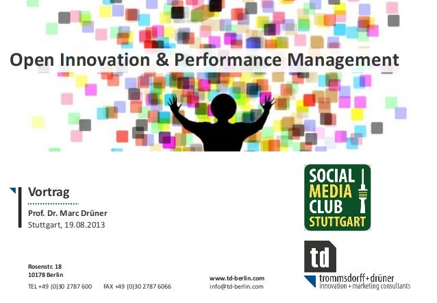 Open Innovation & Performance Management