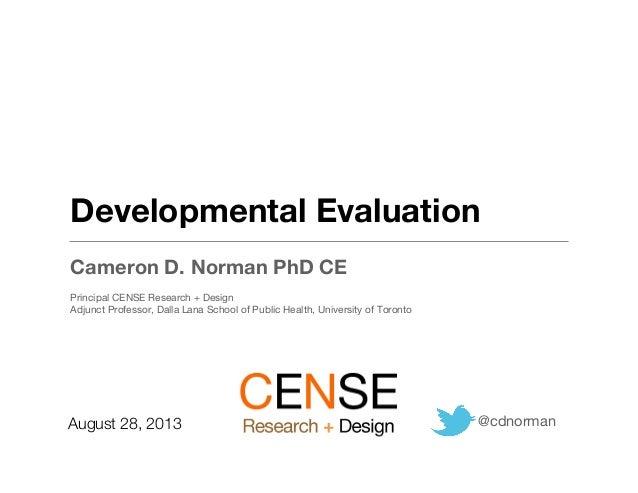 Developmental Evaluation for Social Innovation