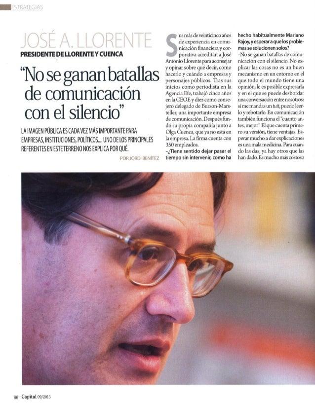 Capital entrevista a José Antonio Llorente