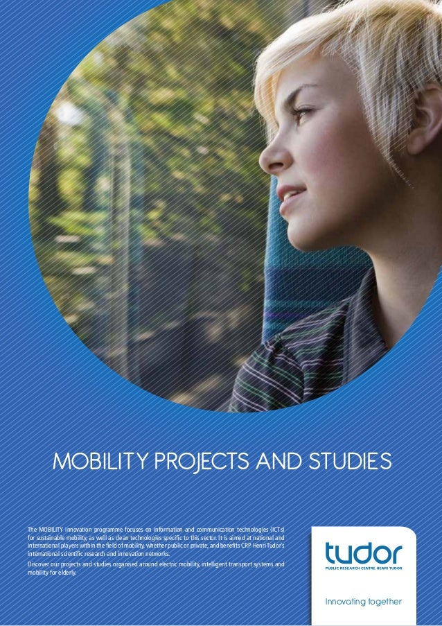 MOBILITY projects and studies - CRP Henri Tudor leaflet