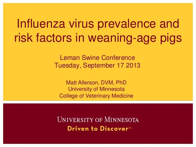 Matt Allerson - Swine influenza virus prevalence and risk factors in weaning-age pigs