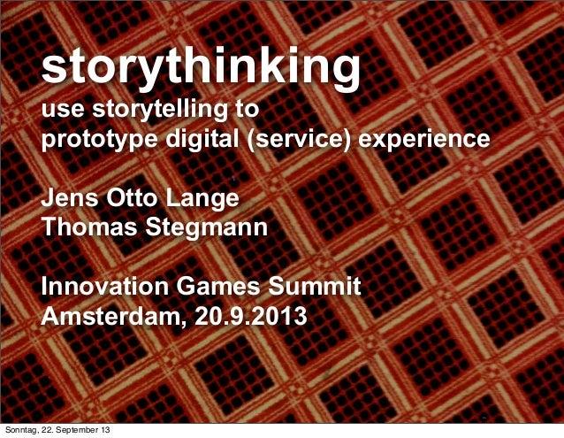 storythinking - use storytelling to prototype digital (service) experience