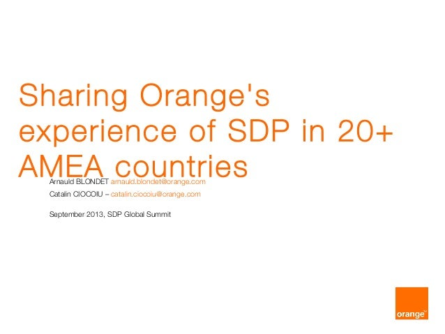 Orange at SDP Global Summit 2013