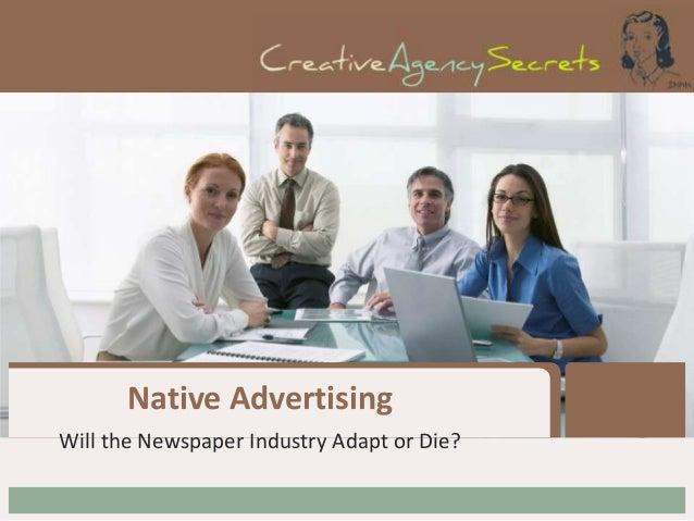 Native Advertising Will the Newspaper Industry Adapt or Die?