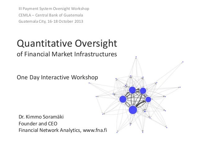 Quantitative Oversight of Financial Market Infrastructures