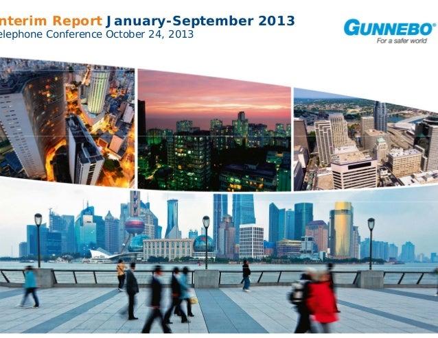 Gunnebo Interim Report January-September 2013