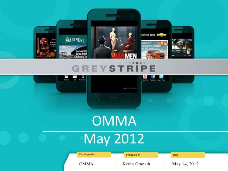 OMMA   May 2012Developed for    Presented by   DateOMMA            Kevin Granath   May 14, 2012