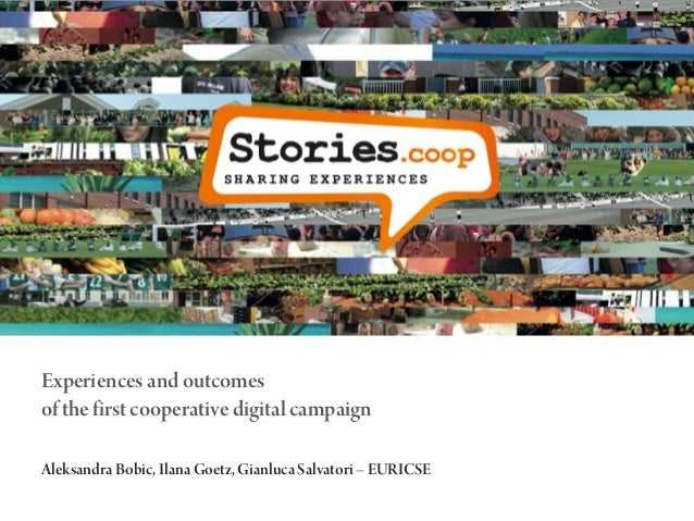 Experiences and outcomes of the first cooperative digital campaign Aleksandra Bobic, Ilana Goetz, Gianluca Salvatori – EUR...