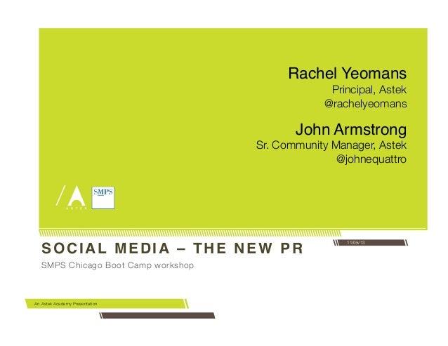 Social Media: The New PR