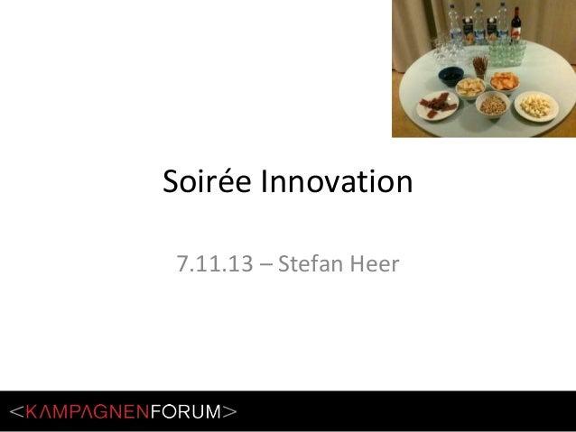 Soirée Innovation 7.11.13 – Stefan Heer