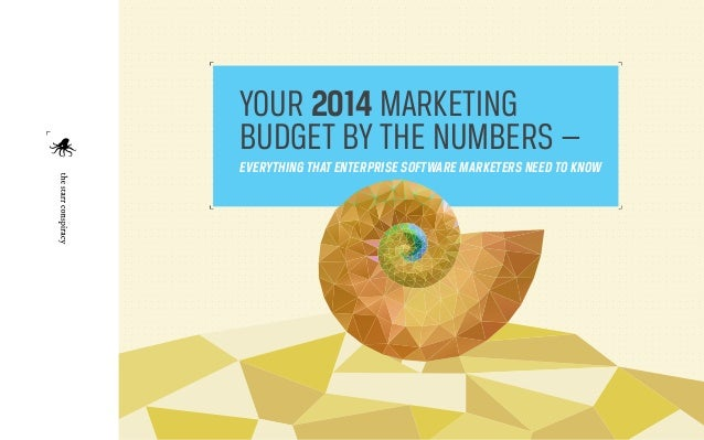 YOUR 2014 MARKETING BUDGET BY THE NUMBERS — EVERYTHING THAT ENTERPRISE SOFTWARE MARKETERS NEED TO KNOW  1