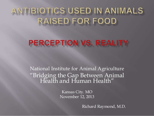 Dr. Richard Raymond - Antibiotics Used In Animals Raised for Food