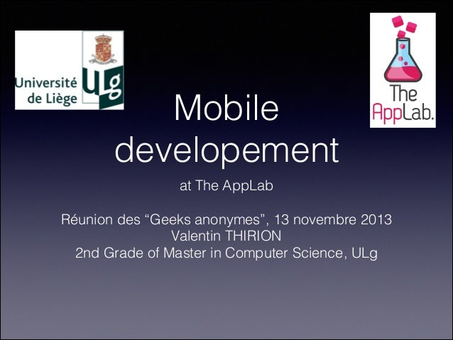 Mobile Development at the App Lab (13 novembre 2013)