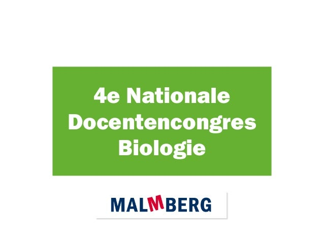 4e Nationale Docentencongres Biologie