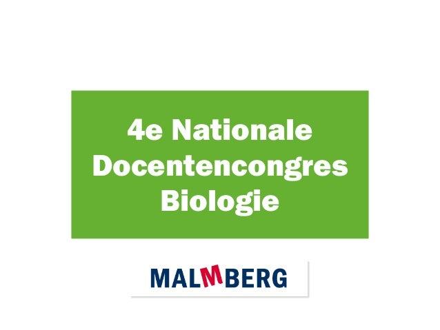 4e Nationale Docentencongres Biologie
