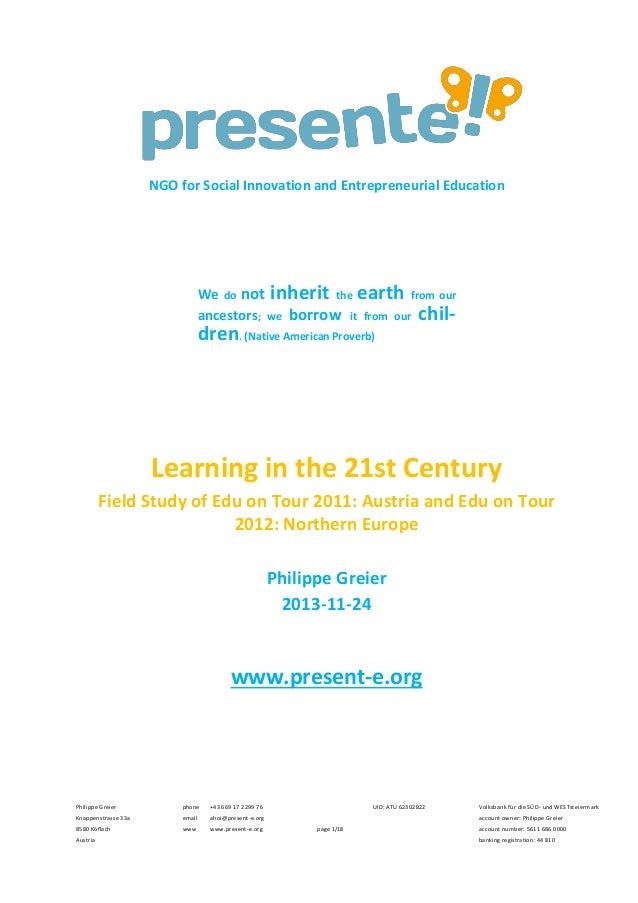 131124 presente! research paper Edu on Tour