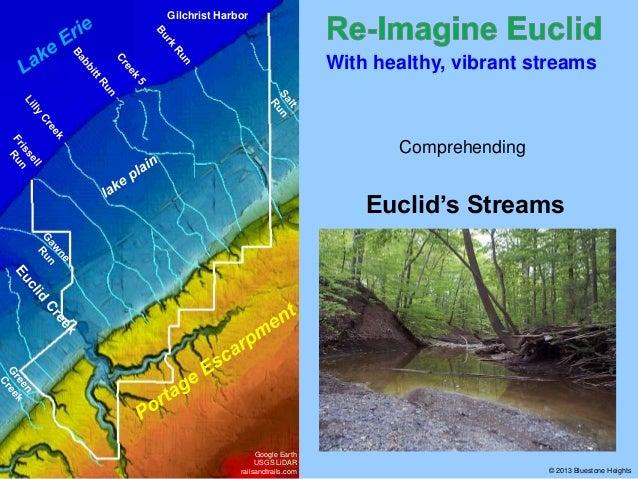 Gilchrist Harbor  With healthy, vibrant streams  Comprehending  Euclid's Streams  Google Earth USGS LiDAR railsandtrails.c...