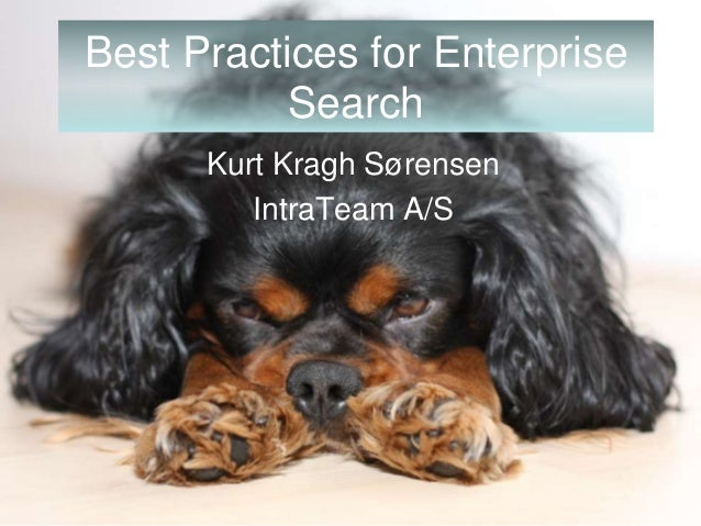 Best Practice Enterprise Search