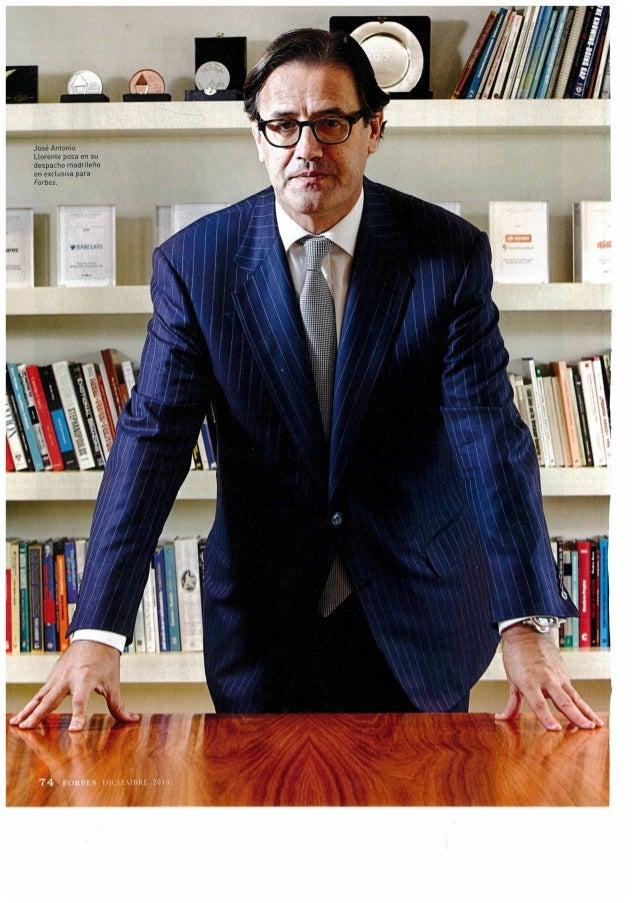 Entrevista de José Antonio Llorente en Forbes