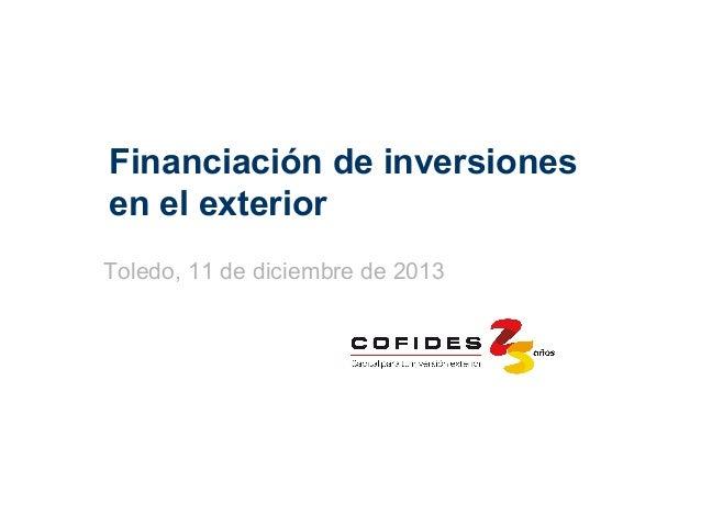 Financiación de Inversiones en el Exterior