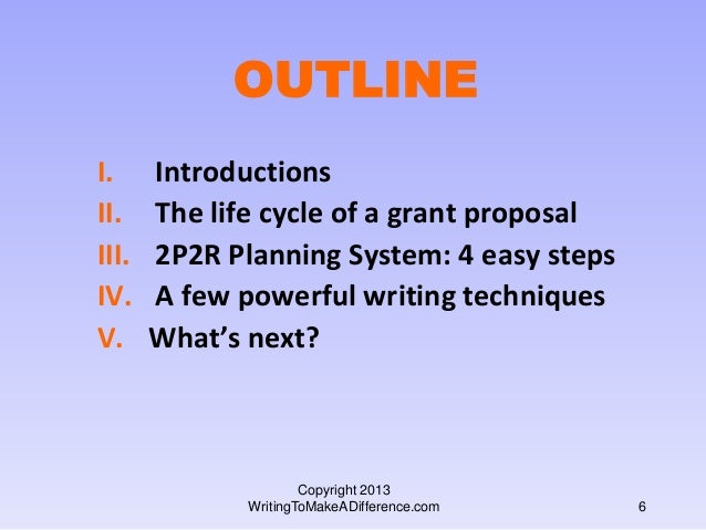 writing a successful grant proposal