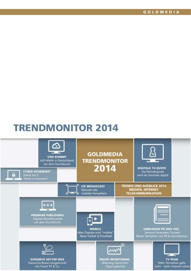Trendmonitor 2014 Goldmedia