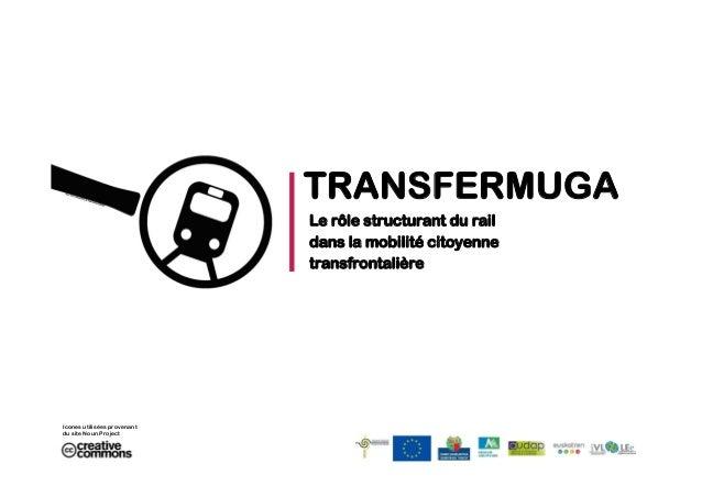 TRANSFERMUGA Le rôle structurant du rail dans la mobilité citoyenne transfrontalière  Icones utilisées provenant du site N...