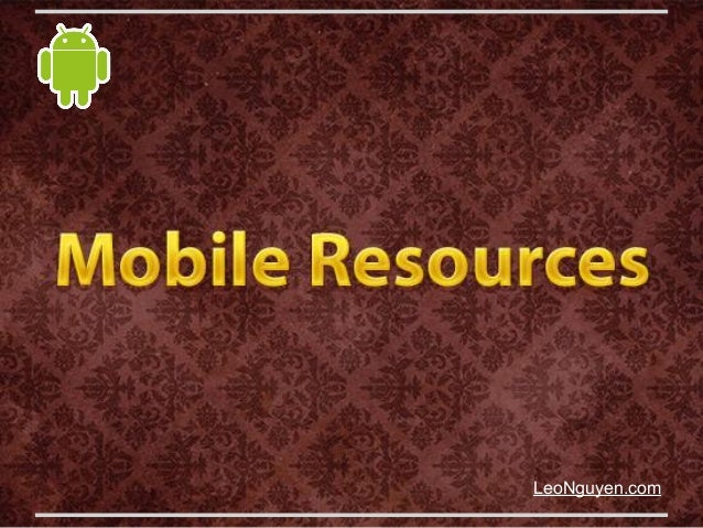 Mobile Resourcesleonguyen.com