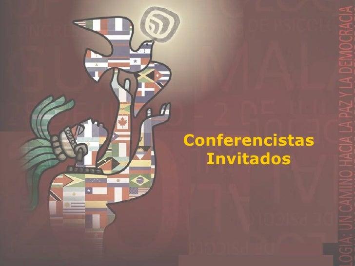 Presentación de Conferencistas Invitados
