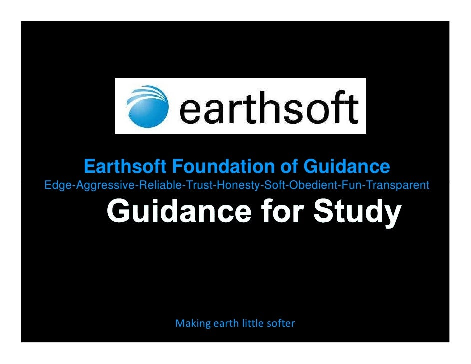Earthsoft-Guidance to Students