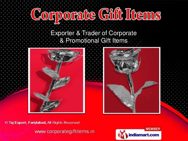 Exporter & Trader of Corporate   & Promotional Gift Items