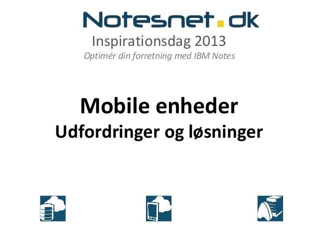Inspirationsdag 24. april: Udvikling af mobil applikationer med XPages