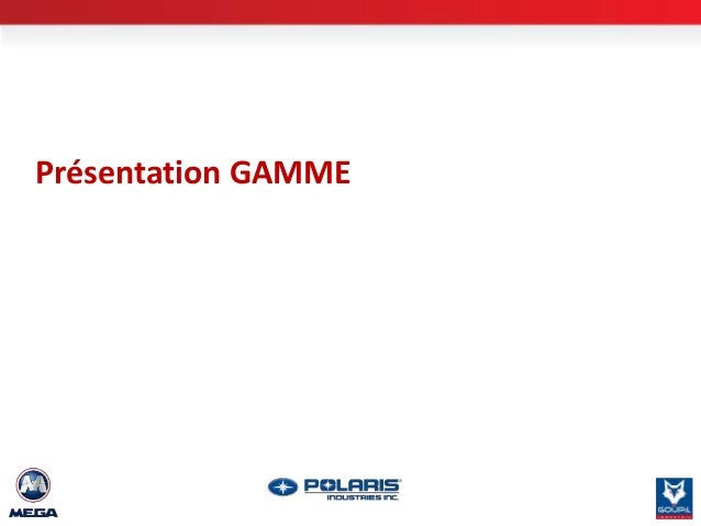 Présentation GAMME