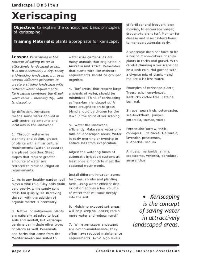 Xeriscaping - Canadian Nursery Landscape Association